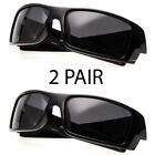 Mens Super Dark Polarized Wrap Around Gascan Sunglasses Driving Square Frame k