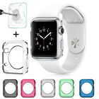 Apple Watch TPU Clear Slim Case Soft Cover + Tempered Glass for iWatch 38mm/42mm