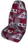 Red Hawaiian Tapa Car Seat Covers - Set of 2