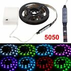 50-200cm 5050 4.5V RGB Waterproof LED Flexible Strip Light Battery Powered Party