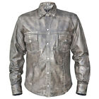 Xelement Urban Armor Men's 'Comfort' Grey Leather Shirt with Gunmetal Snaps