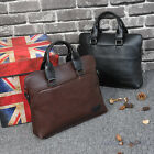 Fashion Men's Briefcase Shoulder Bag Casual PU Diagonal Cross Handbag Business