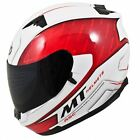 MT Blade Boss Motorcycle Scooter Full Face Crash Helmet White Red ACU Gold