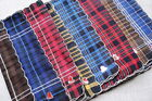 12 pcs /6 pcs 28cm x28cm check-pattern 100% cotton scallop-edged handkerchiefs B