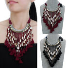 Fashion Bohemian Thread Tassels Fringe Choker Statement Bib Pendant Necklace New