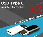 2x USB  Type C Male Connector to Micro USB Female Converter USB-C Adapter