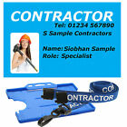 Contractor ID Badge and Lanyard Photo or No Photo. Personalised or Generic