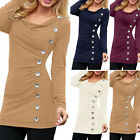 Fashion Sexy Women Ladies Casual Loose Long Sleeve T-Shirt Tops Blouse Size S-XL