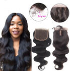 "3.5x4"" Brazilian Body Wave 100% Virgin Human Hair 3 Part Top Lace Closure"