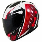 MT Thunder Axe Motorcycle Scooter Full Face Crash Helmet Gloss White Red New