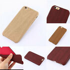 Handmade Natural Wood Bamboo Wooden Hard Case Cover For  iPhone & Samsung