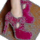 New Vintage Women's Buckle High Heels Comfy Platform Round Toe Ankle Boots Shoes