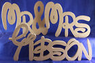 wedding personalised mr&mrs surname disney style decoration freestanding signMDF