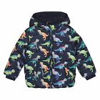 Bluezoo Kids Boys' Blue Dinosaur Print Padded Jacket From Debenhams
