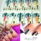 Secrets 3-in-1 Nail Art Pen - Nib Tip, Nail Brush, Rhinestones - 10 Colours