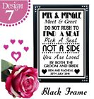 PICK A SEAT NOT A SIDE PERSONALISED WEDDING SIGNS - MEET AND GREET MIX & MINGLE