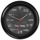 Chalkboard Clock Maths Blackboard Teacher Student Gift #4 Can be personalised