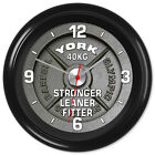 Gym Clock Powerlifting Bodybuilding Weights Keep Fit Stronger Leaner Fitter #3