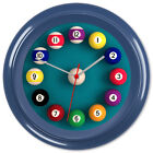 Pool Wall Clock 8 Ball Billiards Games Room Gift #1 - Can be personalised £12.99 GBP on eBay