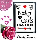 ENGAGEMENT PHOTO BOOTH SIGN VINTAGE CHALKBOARD STYLE PERSONALISED SIGN