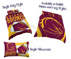 Brisbane Broncos 2017 NRL Quilt Cover Doona Single Double Queen King Pillowcase