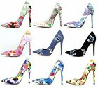Shoe Republic Pointy Toe Multi Colored Stiletto High Heel Pumps Women's Shoes