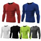 Mens Thermal Under Base Layer Long Sleeve Compression Sports Tights T-shirts Top