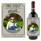 Personalised Our Child School Teacher Thank you Wine Champagne Bottle Label N104