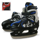 Ice Hockey Skates Skating Shoes Boots Adjustable Size Blade Guards Adult Child