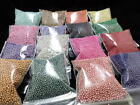 Crafts - Micro/Fairy Beads, Individual Opaque Colors, 1-1.5mm NO HOLE! 13G Resin, crafts