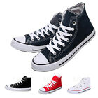 Men'Women Casual Sport Canvas High Top Flat  Lace Up Plimsolls Shoes Sneakers