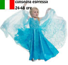 CARNEVALE COSTUME FROZEN dress bambina ELSA VESTITO BIMBA TRAVESTIMENTO 510