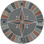 12 Mosaic Medallion Nautical Compass Slate Quarry Tile Backsplash Wall Flooring