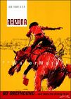 Arizona 1960 See Your USA Greyhound Travel Vintage Poster Print Advertisement