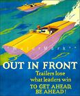 Out Front 1929 WPA Vintage Poster Print Inspirational Work Incentive