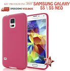 COVER CUSTODIA CASE IN GOMMA GEL SILICONE TPU per SAMSUNG GALAXY S5  S5 NEO !!