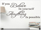 Wall stickers STICKER ADESIVI MURO IF YOU BELIEVE...........