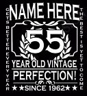 55th Birthday T-Shirt Personalise with Name Age Year Ideal Birthday Gift t-shirt