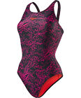 SPEEDO ENDURANCE 10 BOOM ALLOVER PRINT SWIM SUIT - LADIES SIZES FREE POSTAGE