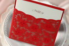 Red wedding invitation cards CW1020 with envelopes, seals, personalized printing