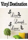 Live Laugh Love Words Wall Art Sticker Quote Living Room Decor Mural Decal U