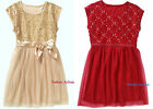 NWT Girls' Sequin Bows Holiday Wedding Easter Special Occasion Tulle Dress 4-16
