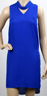 UK Ladies Womens Fashion Cobalt Blue Sleeveless Choker Going Out Cocktail Dress