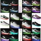 LED LIGHT UP KIDS CHILD BOYS GIRLS TRAINERS WOMENS FLASH PUMPS USB CHARGER NEW