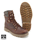 Leather Brown Boots by Woodland High Ankle Goodyear Welted Soles Sizes UK6-12