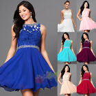 Short Chiffon Bridesmaid Formal Gown Ball Party Evening Homecoming Prom Dress