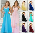Long Chiffon Lace Formal Gown Ball Evening Party Prom Bridesmaid Dress size 6-26
