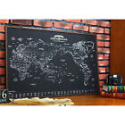 Paper World Map Travel Routes wall Decoration Dreams around the World