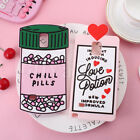 Chill Pills Soft Silicone Back Case Cover For Samsung Galaxy Note 3 & Note 4& S5