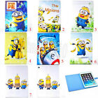 Despicable Me Minion Leather Wallet Case Cover for iPad 2&3&4 & iPad Air & Mini